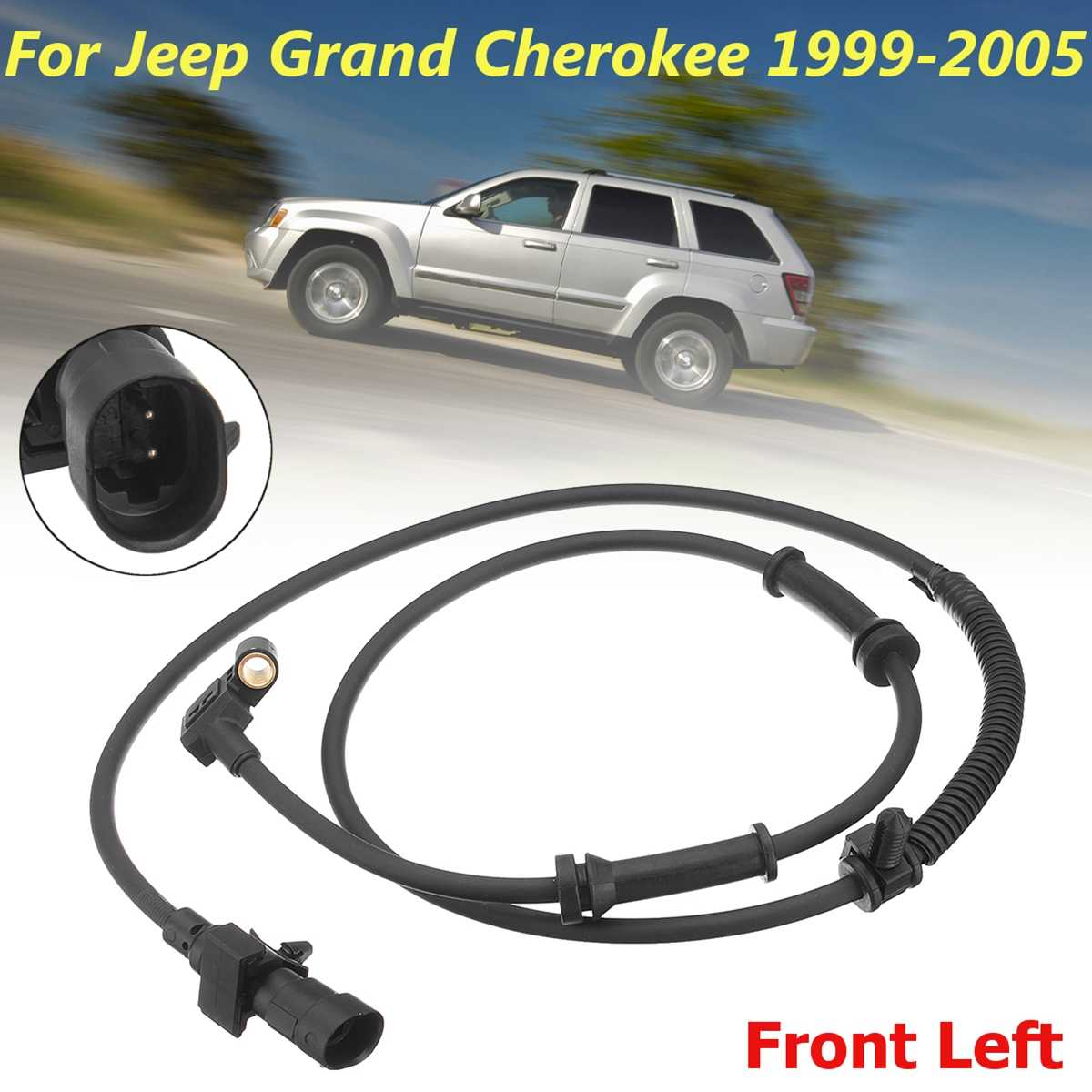 Set of 2 Front Left and Right ABS Wheel Speed Sensors for Jeep Grand Cherokee WJ 1999-2004