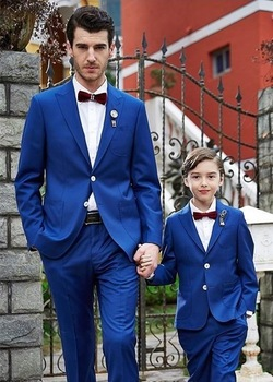 Royal Blue 2 Pieces Mens Wedding Suit Formal Casual Tuxedos Single Breasted Men Blazer Two Buttons Ternos Jacket Pants