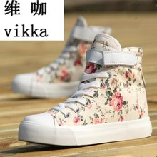 Women canvas shoes for 2017 spring and autumn female High-top pure black classic casual shoes footwear size 35-44
