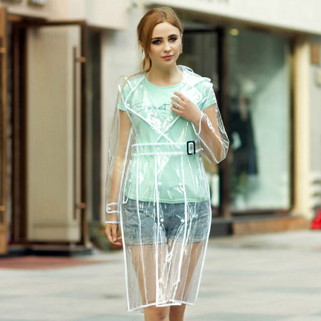 Aliexpress buy good creative transparent raincoat with belt aliexpress buy good creative transparent raincoat with belt long rain coat women jacket waterproof windbreaker hooded poncho outdoors rainwear from ccuart Image collections