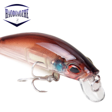 Купить с кэшбэком Minnow Fishing Lures 7cm 11.4g Light Silicone Hard Bait Wobblers Isca Artificial Winter Sea Japan Wobbler Pesca Fishing Tackle