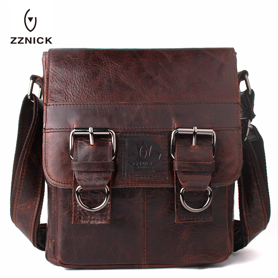 ZZNICK 2017 New Men's Business Bag Brand Genuine Leather Male Fashion Shoulder Bags Luxury Cow Leather Handbag Men Crossbody Bag zznick 2017 new men s business bag brand genuine leather male fashion shoulder bags luxury cow leather handbag men crossbody bag