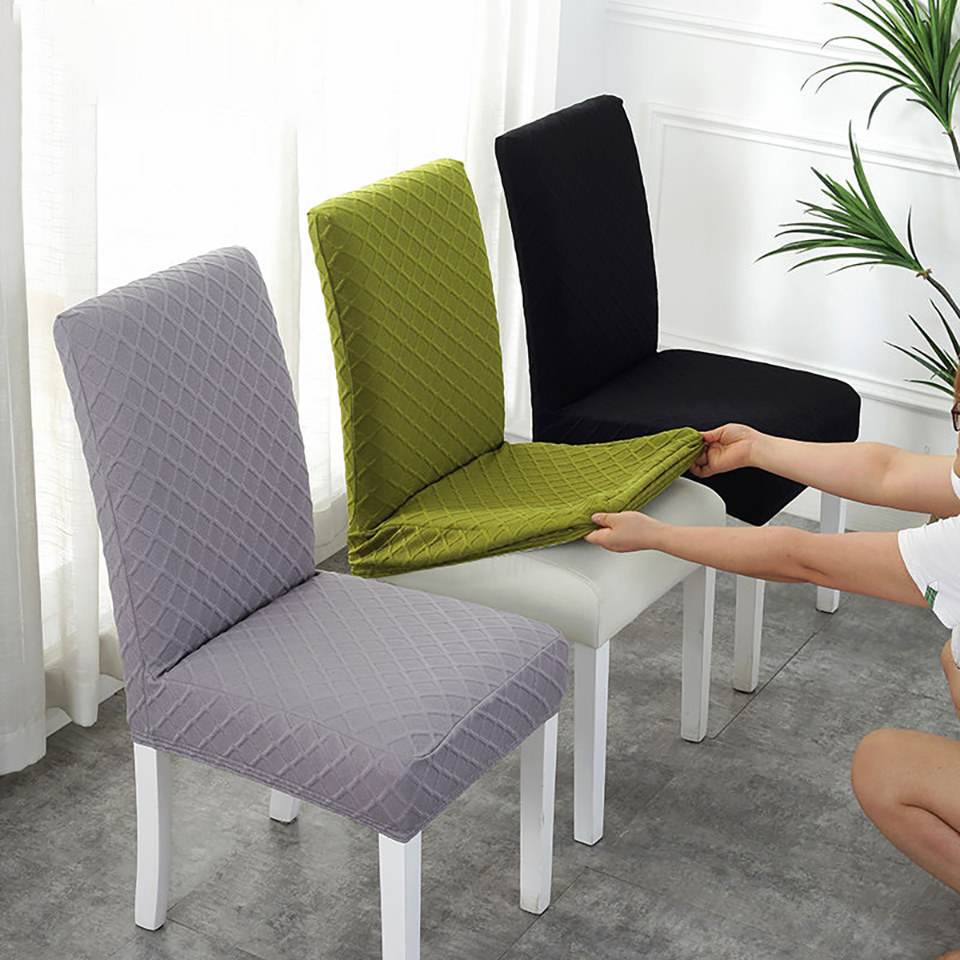 US $6.9 37% OFF|Double layer Fabric Elastic Chair Cover For Kitchen/Wedding  Stretch Chair Covers Spandex Dining Room Chair Cover With Back-in Chair ...