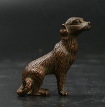 48MM/1.9 Collect Curio Rare Chinese Fengshui Bronze 12 Zodiac Lovable Animal Dog Statue Statuary 67g
