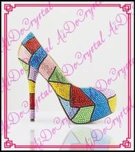 Aidocrystal Neue Ankunft Mode Damen Schuhe Strass High Heels Schuhe Frauen Pumpen in china