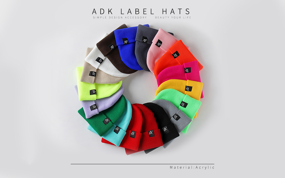 HTB1ZX5nbkT2gK0jSZFkq6AIQFXam - Unisex Hats Knitted ADK Tags Cap Woman Beaines For Winter Breathable Men Gorras Simple Hats Warm Solid Casual Lady Beanies