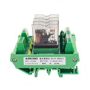 Image 3 - 4 채널 1 SPDT DIN 레일 장착 220VAC 인터페이스 릴레이 모듈