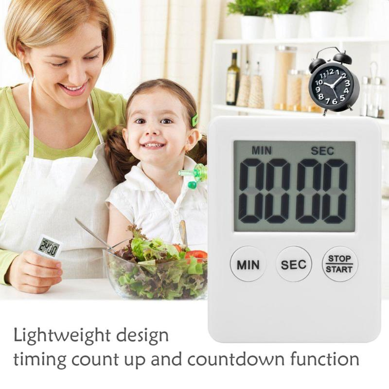 LCD Digital Timer Kitchen Cooking Count-down Up Clock Loud Alarm Reminde Table Clock Temporizador Kitchen Timer
