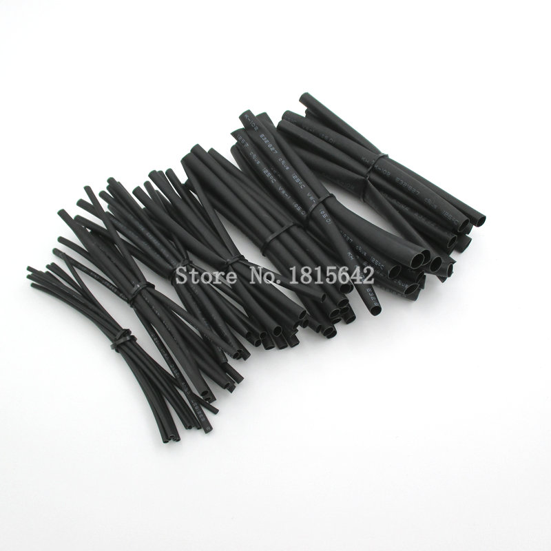 7Meters/LOT 1mm 2mm 2.5mm 3mm 4mm 5mm 6mm Heat Shrink Heat Shrinkable Sleeving Tubing Tube Wrap Wire Kit Black Insulation Sleeve ...