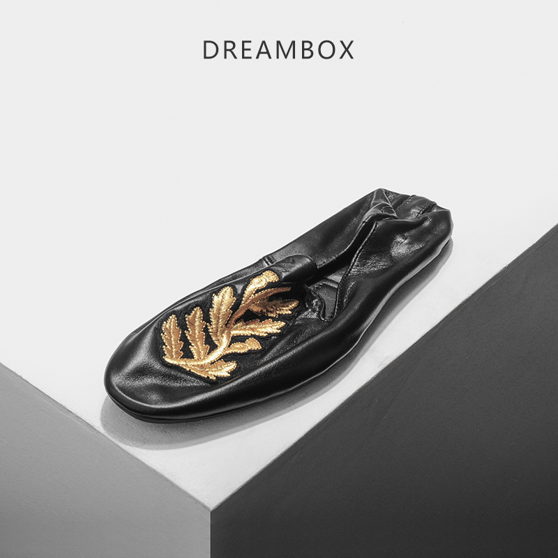 dreambox Summer European and American fashionable sheepskin embroidery soft soft sole leather breathable with shoe dreambox 800 hd крайот