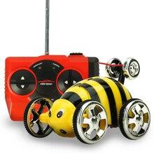 Р/У машинки мини Танцы автомобиль милый жук/пчелы флип трюк 360 градусов Дистанционное управление Модель автомобиля игрушка безопасности компьютер для детей Рождественский подарок