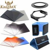 KnightX 52mm 58mm 72mm 77mm Square completo Kit de accesorios de filtro ND para Cokin Serie P filtro para Nikon Sony Canon
