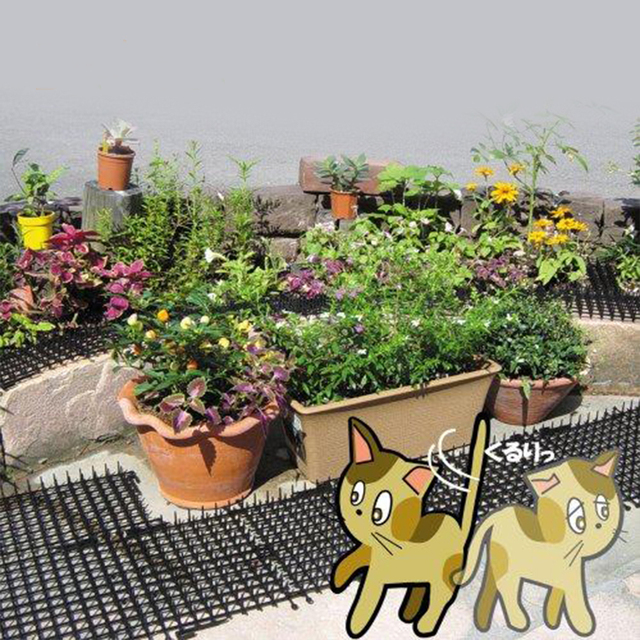 Garden Cat Scat Mat – Cats and Dogs Repellent Mat Plastic Spike-Keeping cats and dogs from digging (2Meters-6.5 ft)