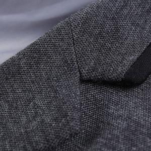 Image 5 - Брендовая одежда Liseaven, блейзер, мужское модное пальто, тонкая мужская одежда, повседневные однотонные мужские блейзеры