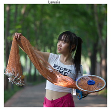 Lawaia Fly Fishing Net American Iron Fishing Network 1 * 1cm Mesh Cast Net Hand Throw Cepat Sinking Cast Net 2.4m-5m