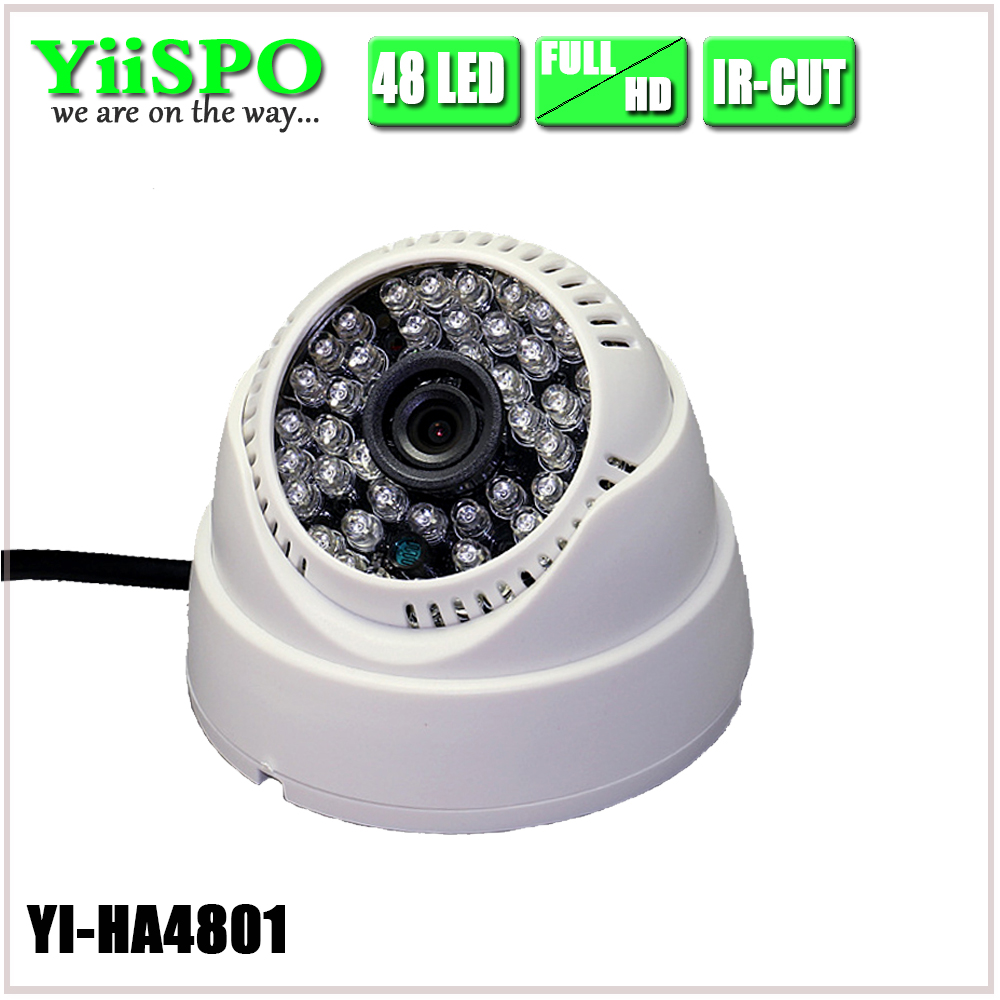 YiiSPO AHD 720P 1080P IR Mini Dome Camera Analog 1MP 2MP AHD Camera indoor IR CUT 48LEDS Night Vision Plug and Play for AHD DVR security analog hd 2mp 1080p ahd camera indoor ir 15m ir cut filter dome cctv 2 0mp ahd camera work for ahd dvr