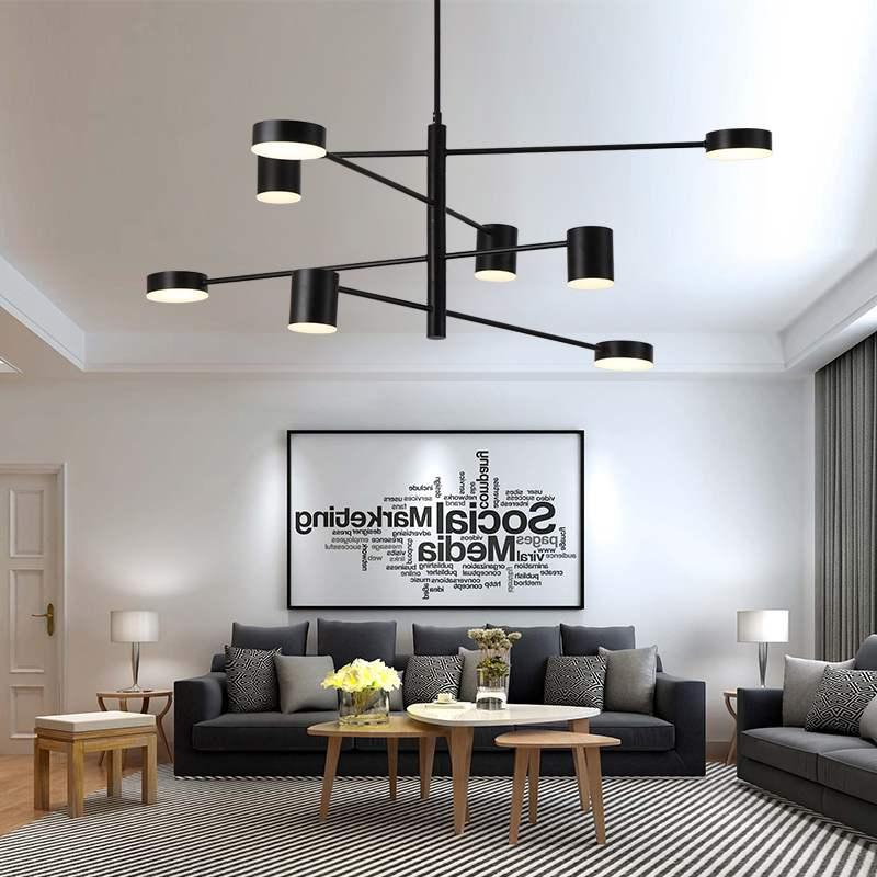 Us 171 92 30 Off Nordic Living Room Pendant Lamp Modern Minimalist Fashion Personality Rotating Style Bedroom Dining Lights In