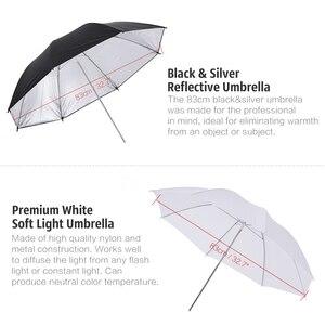 Image 2 - Andoer 카메라 더블 플래시 슈 마운트 회전 소프트 우산 키트 소프트 우산 + b 형 브래킷 + 휴대용 가방 + 라이트 스탠드 + shoemount
