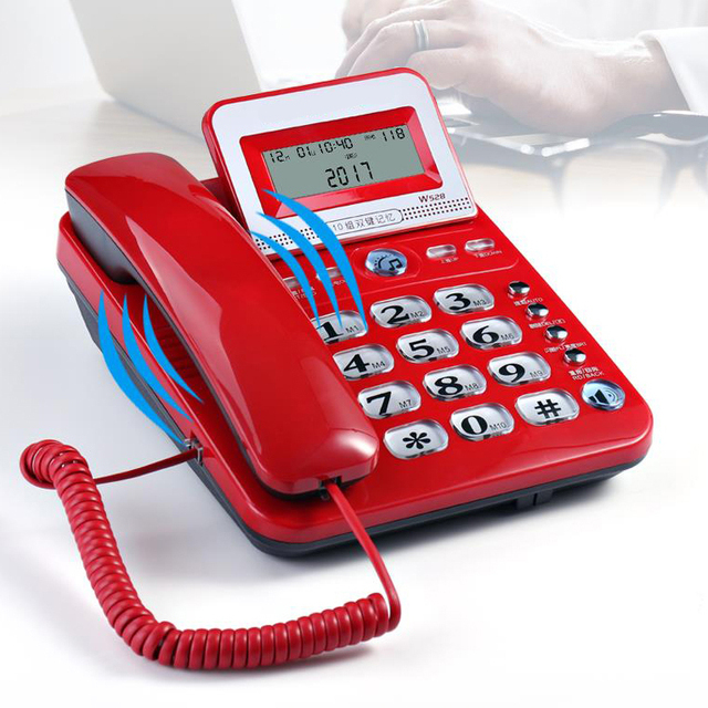 68a6e525814 Desk telefone Corded Telephone Phone Landline LCD Display Caller ID Volume  Adjustable Calculator Alarm Clock for Home office