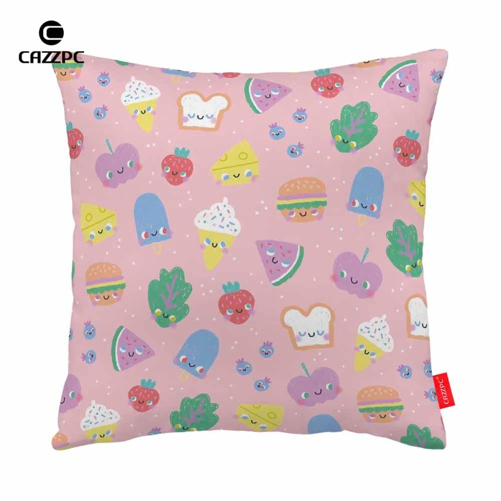 Pink Icecream Watermelon Cake Food Print Car Decorative Pillowcase Pillow cases Cushion Covers Sofa Home Decor