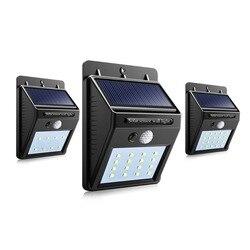 Светильники для дорожки светодиодный солнечной энергии PIR датчик движения настенный светильник Открытый водонепроницаемый уличный двор д...