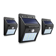 Path Lights LED Solar Power PIR Motion Sensor Wall Light Outdoor Waterproof Street Yard Home Garden Security Lamp Auto ON/OFF(China)