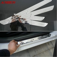 Car Styling Stainless Steel Side Door Scuff Plate For SEAT LEON CUPRA MK2 MK3 FR ST