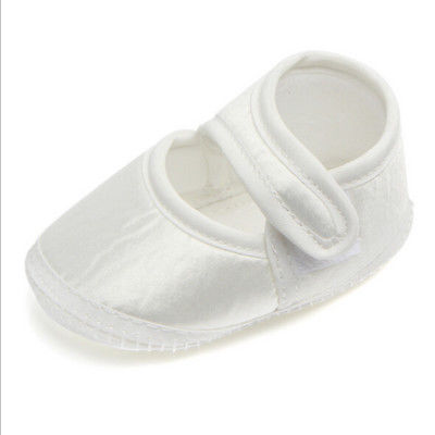 Baby Newborn Infant PU Leather White Princess Shoes Prewalker Soft Crib Shoes Girls Cute Shoes 0-6M