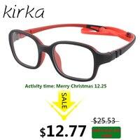 Kirka Elastyczne Dzieci Ramki Okularów TR90 Dzieci Okulary, nie Screw, niezniszczalny Bezpieczne Światło Chłopcy Dziewczęta Okulary Optyczne Ramki