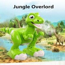 Children Gifts Dancing and Music Intelliget Follow RC Walking Dinosaur Toys Jurassic tyrannosaurus Rex  RC Robot with Spraying