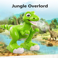 Children Gifts Dancing and Music Intelliget Follow RC Walking Dinosaur Toys Jurassic tyrannosaurus Rex RC Robot with Spraying