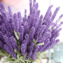 12 Provence Lavender Flower Plants Fake Floral Party Decoration Flowerbed Wedding PE Foam Artificial