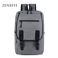 ZENBEFE Unisex Design Backpack Book Bags For School Backpack Linen 15 Inch Laptop Bags Preppy Style