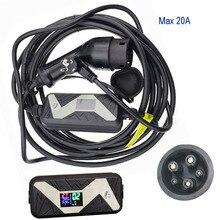 SAE J1772 портативное быстрое зарядное устройство EV 10A 13A 16A 20A для дома или электромобиля зарядная станция Тип 1