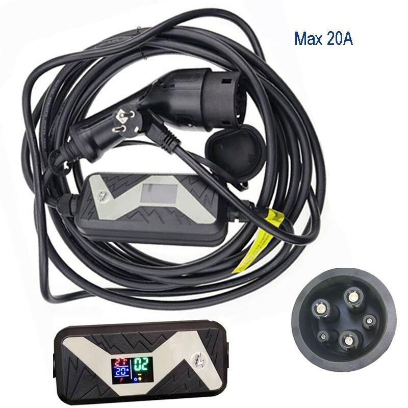 SAE J1772 chargeur rapide Portable EV 10A 13A 16A 20A Station de recharge de véhicule électrique à domicile type 1 pour ford pour nissan