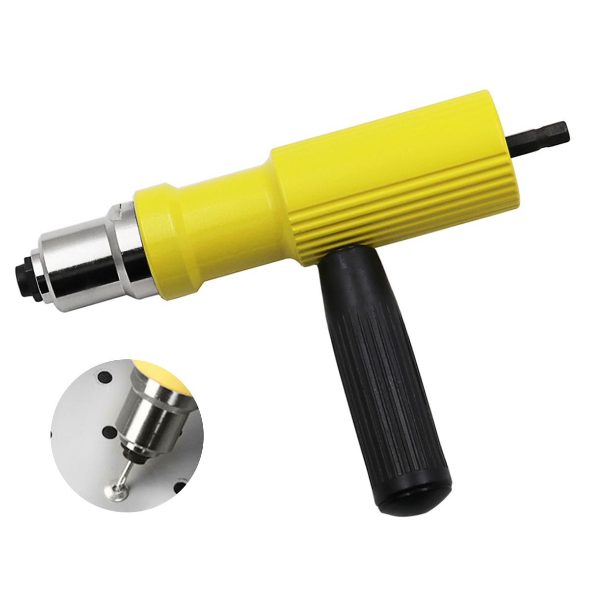 Electric Rivet Nut Gun Riveting Tool Cordless Riveting Drill Adapter Insert Nut Tool