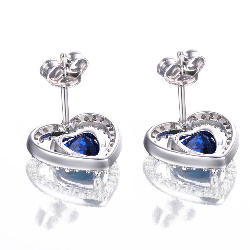Dubbel-R 925 Sterling Silver Örhängen För Flicka Hjärta - Fina smycken - Foto 4