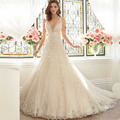 Romantic Mermaid Lace Wedding Dress Vernassa Vestido De Casamento Court Train New Arrival Bridal Dresses Fast Shipping 2015