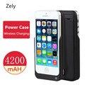Zely 4200 мАч Аккумуляторная Внешнего Резервного Питания Чехол Для iPhone 5 5S SE Портативный Банк Силы Резервная Батарея Зарядное Устройство Кейс