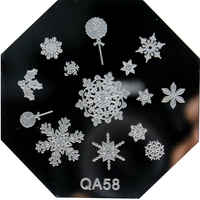 QA58 1PCS SnowFlake nail art image plate.nail template CHOOSING DESIGNS for qa series nail beauty TOOLS