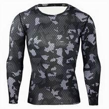 Hombres GYM Workout Fitness Tops Larga Camiseta para Correr Deporte Yoga tren Pro Secado rápido de Compresión Ejercicio Muslce Culturismo Camiseta S92