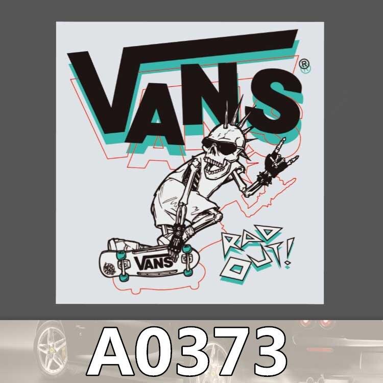 10pcs Kids Toy Sticker Vans Skeleton Stickers Funny Stickers For Kids Cartoon Home Decor Laptop Skateboard