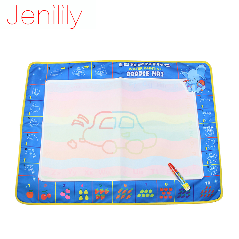 Jenilily 80X60cm Big Size Magic Drawing Toys Tool Colorful Baby Water Doodles Mat with 1 ...