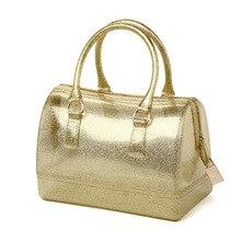 Weibliche Neue Marke Mode Handtasche Silikon Zipfel Boutique Trage Candy Transparent Wasserdicht Paket Kissen Lässig Taschen