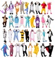 Winter Unisex Adult Pajamas Cosplay Costume Animal Onesie Sleepwear Stitch Zebra Panda Totoro  Bear Bat Wolf Unicorn Pig Coon