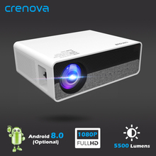 CRENOVA Video-Projector Support WIFI Android-8.0 4k Led Full-Hd 1080P OS Newest