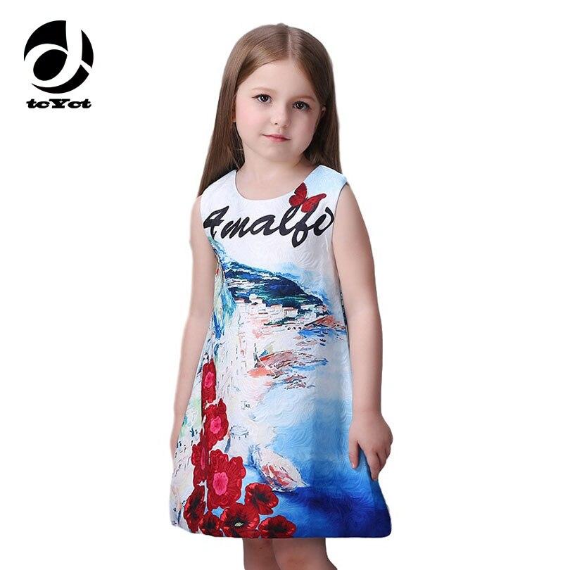 2016 New Arrived Milan Creations Girls Dress For Children Elegant Summer Clothes For Girls Age 3-11 12 Fashion Kids Dress Prom