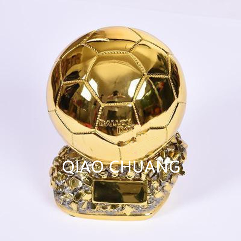 Football Match Soccer Fans Souvenir GOLD BALL Trophy Creative Colophony Crafts Gold Plating Home Furnishing Articles G830