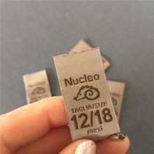 Customize 75D High Definition 2*7.2cm Garment Label Woven