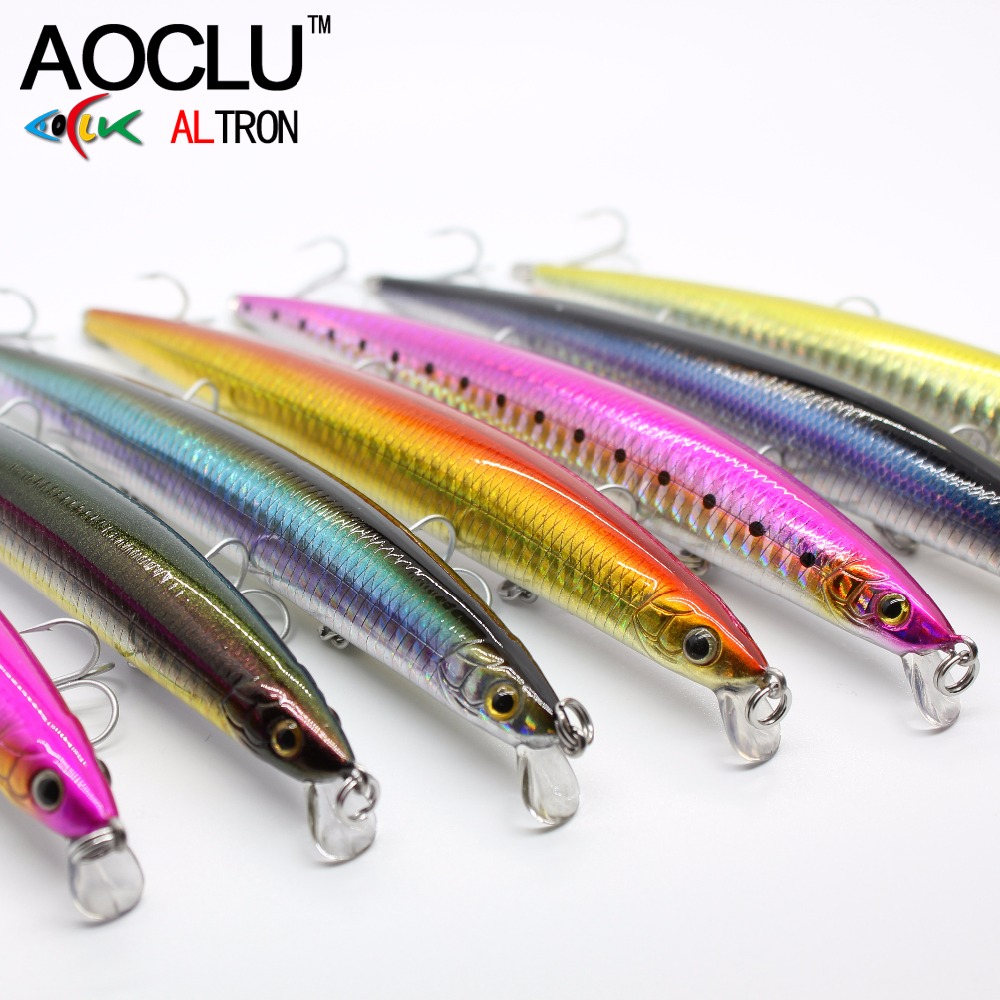 AOCLU wobblers Jerkbait 5 Colors Long Casting 15cm 18.0g Hard Bait Minnow Crank Fishing lures Bass Fresh Salt water 6# VMC hooks 1pcs 12cm 14g big wobbler fishing lures sea trolling minnow artificial bait carp peche crankbait pesca jerkbait ye 37